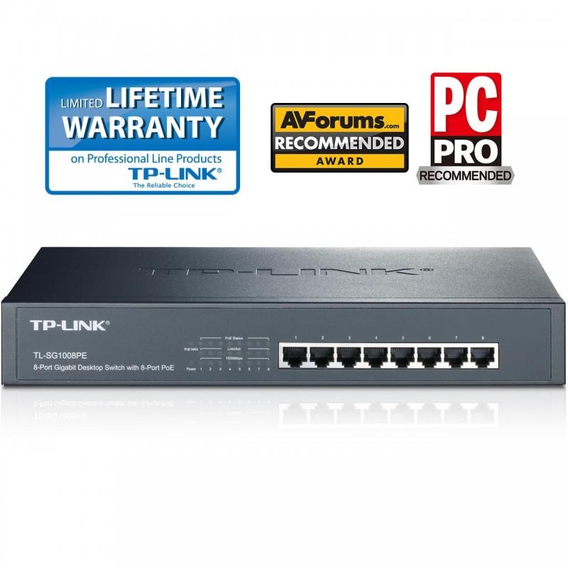 TP-LINK TL-SG1008PE 8 Port Gigabit PoE Switch