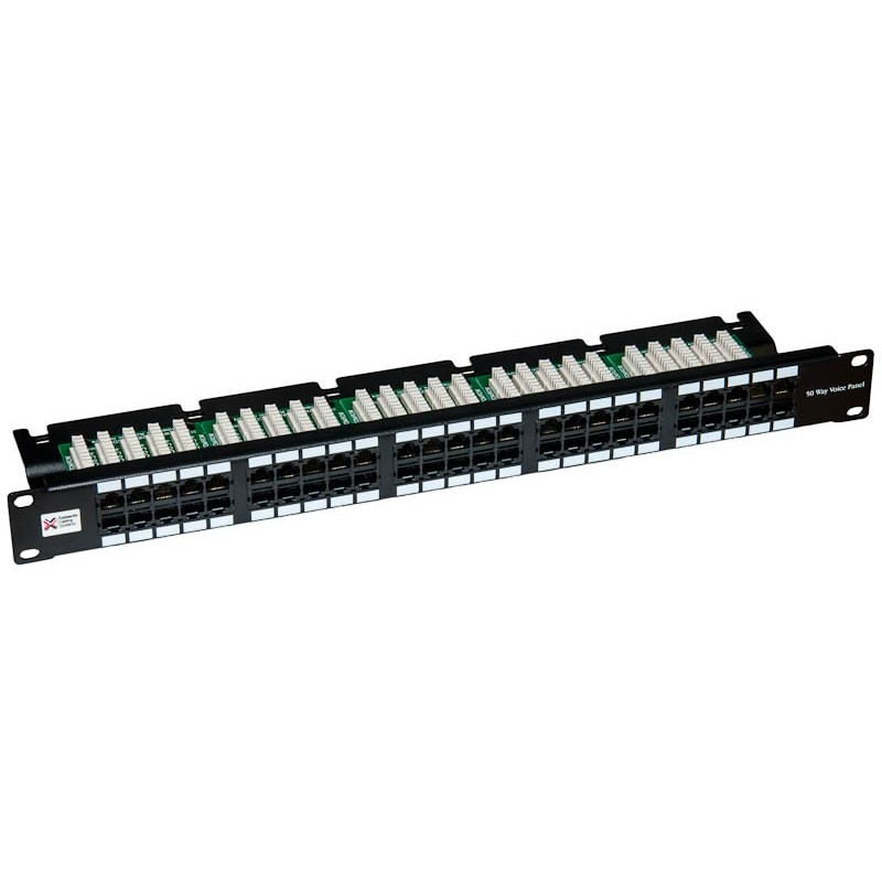 "50 Way CCS 19"" Voice Patch Panel"