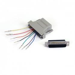 RJ45 Socket to D25 Male Modular D Adapter