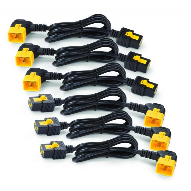 APC AP8714R Power Cord Kit (6 ea), Locking, C19 to C20 (90 Degree), 1.2m