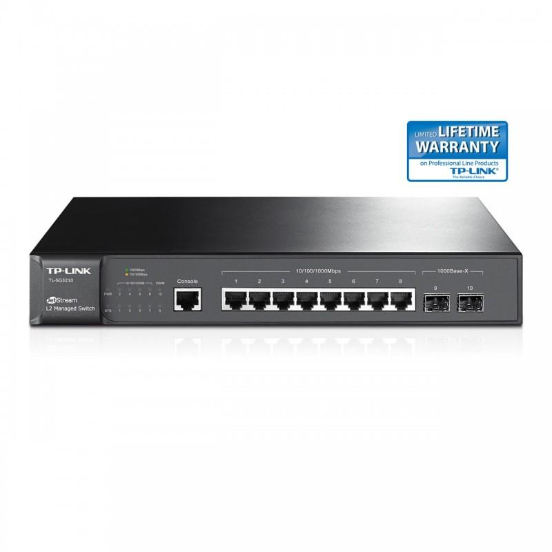 TP-LINK TL-SG3210 8-Port Gigabit L2 Managed Switch