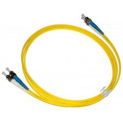 ST - ST Singlemode (9/125) Duplex Fibre Patch Lead