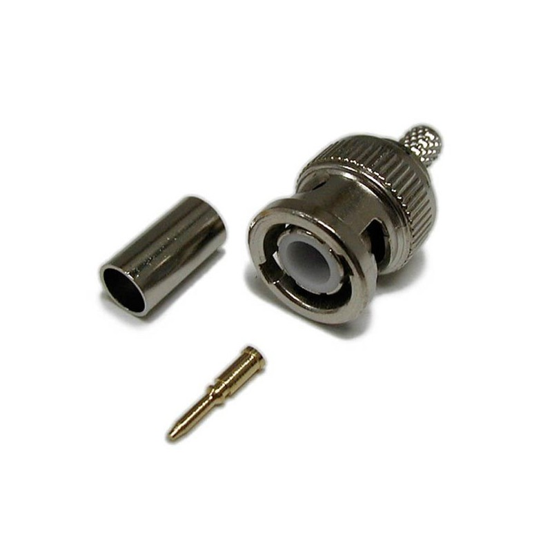 BNC 75 Ohm Crimp Plug
