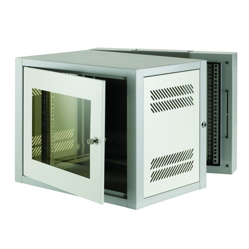 18u 500mm Deep 2 Part Wall Mounted Data Cabinet