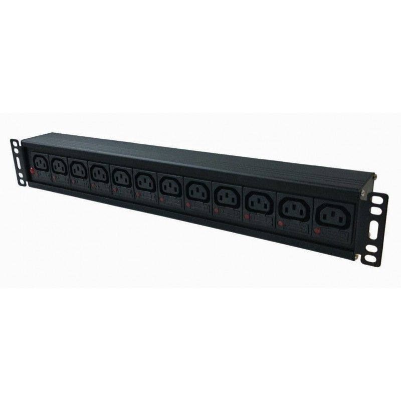 Individually Fused IEC C13 Socket / IEC C14 Plug Rack PDU