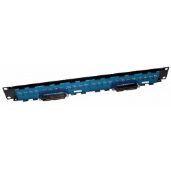 24 RJ45 to 2 50 Way Telco UTP Patch Panel