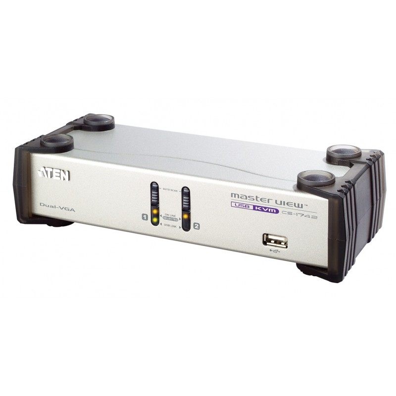 Aten CS1742 2-Port USB Dual-View KVMP™ Switch