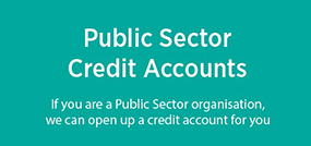 Are you a public sector organistion? - open a credit account